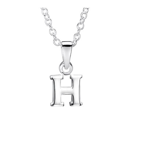 Jo For Girls Silver Initial Pendant - H