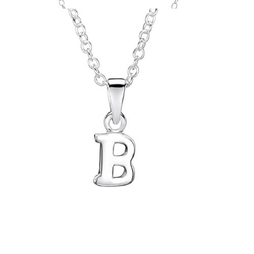 Jo For Girls Silver Initial Pendant - B