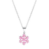 Jo For Girls Frozen Pink Snowflake Pendant