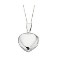 Plain sterling silver heart locket P3224