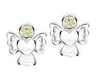 Jo For Girls August Birthstone Angel Stud Earrings