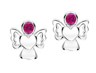 Jo For Girls July Birthstone Angel Stud Earrings