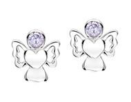 Jo For Girls June Birthstone Angel Stud Earrings