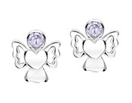 Jo For Girls June Birthstone Angel Stud Earrings