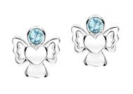 Jo For Girls March Birthstone Angel Stud Earrings