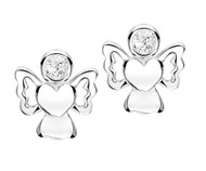 Jo For Girls April Birthstone Angel Stud Earrings