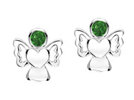 Jo For Girls May Birthstone Angel Stud Earrings