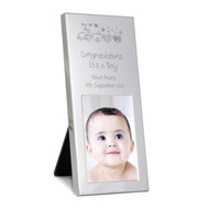 Personalised Train Kids New Baby Photo Frame
