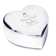 Personalised Wedding Flower Girl Heart Trinket