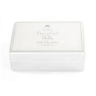 Personalised Flower Girl Jewellery Box