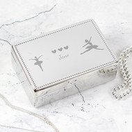 Personalised Ballerina Rectangle Jewellery Box