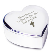 Personalised Cross Heart Trinket