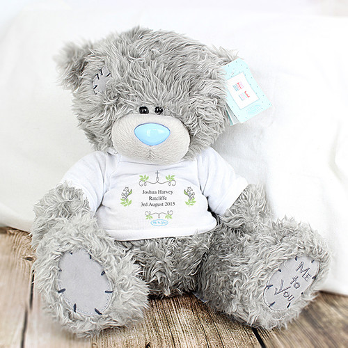 Personalised new baby teddy bear Me To You