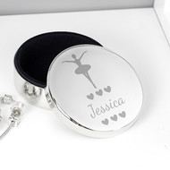 Personalised Ballerina Jewellery Trinket Box