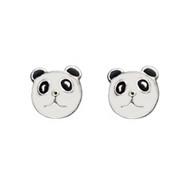 Panda Face Stud Earrings