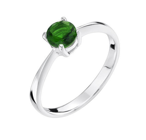 Girls Emerald Green CZ May birthstone ring