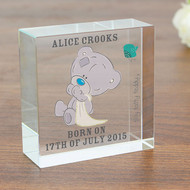 Personalised Tiny Tatty Teddy Christening Crystal Token