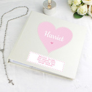 Personalised Pink Heart Photo Album