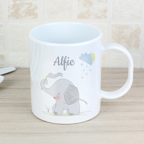 Personalised Elephant Plastic Mug