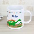 Kids plastic mug personalised dinosaur
