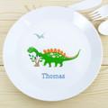 Kids Personalised Dinosaur Plastic Plate