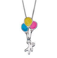 D for Diamond Balloons Pendant - P4420