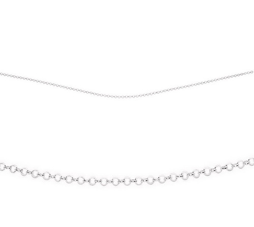 "16"" sterling silver midweight belcher chain"