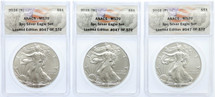 2016 (P)(S)(W) ASE MS70 ANACS 3pc Set Limited Edition #xx of 572