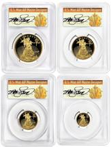 2018-W Gold Eagle ($5, 10, 25, 50) 4-Coin PR70 PCGS FDOI Wash D.C. T. Cleveland Art Deco