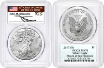 2017-(S) ASE MS70 PCGS Struck at San Fran Mercanti (flag label)