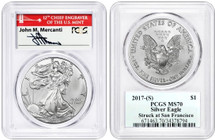 2017-(S) ASE MS70 PCGS Struck at San Fran Mercanti (Red Bridge label)