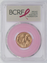 2018-W $5 Gold Breast Cancer Awareness MS70 PCGS FDOI Pink Ribbon label