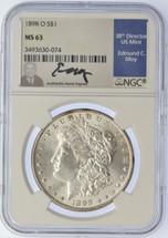 1898 O Morgan Dollar MS63 NGC Moy