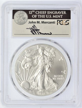 2016 Silver Eagle MS 70 PCGS 30th Anniversary Mercanti Signed