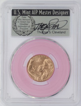 2018-W $5 Gold Breast Cancer Awareness MS70 PCGS FDOI Thomas Cleveland Veteran label