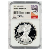 2015 W Proof ASE PF70 NGC Ultra Cameo Flag Mercanti
