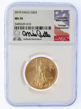 2010 $25 Liberty Gold Eagle MS70 NGC Mike Castle
