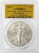 2016 ASE MS70 PCGS 30th anniversary First Strike Gold Foil