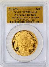 2014-W $50 Proof Gold Buffalo PR70 PCGS First Strike Gold Foil