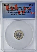 2013 $1 Canada ML RP70 ANACS 25th Anniv.  single piece