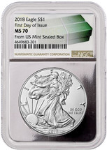 2018 ASE MS70 NGC FDOI Monster Box label w/Silver Core