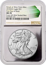 2018 (W) ASE MS70 NGC FDOI Monster Box label w/Silver Core