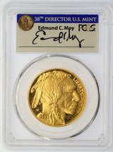 2015-W $50 Proof Gold Buffalo PR70 PCGS Moy blue Director's Mint label