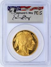 2015-W $50 Proof Gold Buffalo PR70 PCGS FDOI-Wash. D.C. Moy flag label