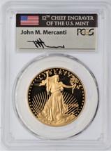 1996-W 4-Coin ($5, 10, 25, 50) Gold Eagle Set PR70 PCGS Mercanti