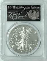 2018-W Burnished Silver Eagle SP70 PCGS FDOI Thomas Cleveland Freedom *Pop 125*