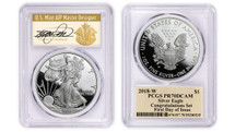 2018-W Proof Silver Eagle PR70 PCGS Congratulations Set FDOI Thomas Cleveland Art Deco *POP 25*