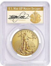 2018-W $50 Burnished Gold Eagle PCGS SP70 FDOI Cleveland Art Deco *Pop 15*