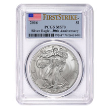 2016 Silver Eagle MS 70 PCGS First Strike 30th Anniversary