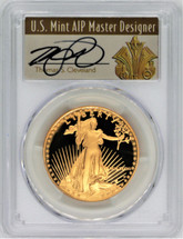 1987-W $50 Gold Eagle PR70 PCGS Thomas Cleveland Art Deco